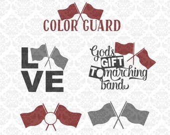 Color Guard Svg, Colorguard Svg, Marching Band Svg, Band Svg, Color Guard Flag Svg, Color Guard Shirt Svg, Flag Girl Svg, Colorguard Cricut