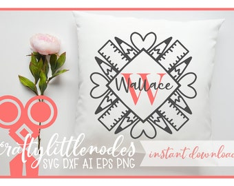 Teacher, Teaching, SVG, School, Monogram, Frame, Cut File, Cricut, Silhouette, Layered, DXF, Ai, Eps, PNG, Shirt Design, Commercial Use
