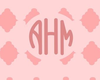 2 Style round Monogram Alphabet SVG STUDIO Ai EPS  Cricut Explore Silhouette Cameo Cutting File Vector Commercial Use Cricut Silhouette