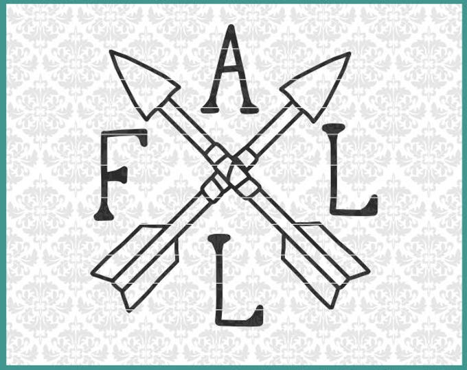 CLN0656 Fall Autumn Arrows Sign Hand Lettered Drawn Rustic SVG DXF Ai Eps PNG Vector Instant Download Commercial cut File Cricut Silhouette