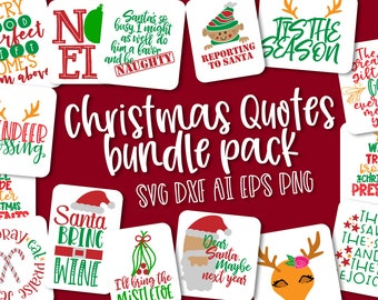 Svg, Bundle, Christmas, Pack, Quotes, Cricut, Silhouette, Cutting File, Files, Reindeer, Santa, Elf, Christian, Bible, Verse, Plate Design