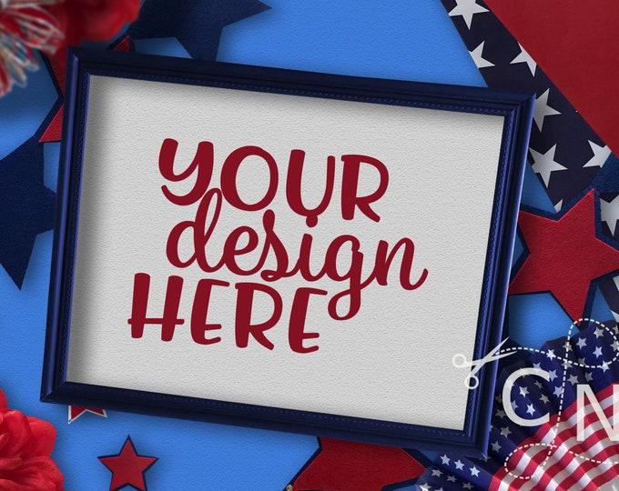 Mockup, Frame, Print, Styled, July, Patriotic, Summer, Craft Mockup, Mockup Design, Svg Mockup, Mockup for Svg, Jpeg, Mock up, Vinyl