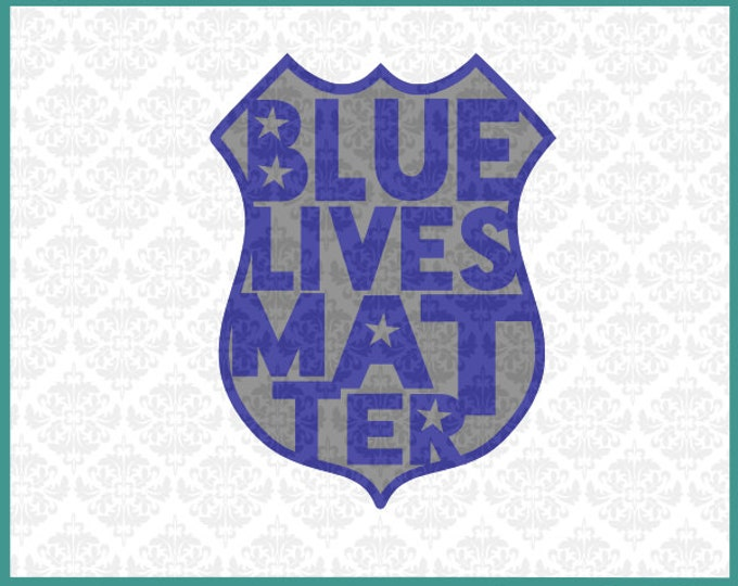 Blue Lives Matter, Police, Officer, Svg, Dxf, Cutting file, Cricut, Silhouette, Political, Southern, Police Wife, Vector, Instant Download