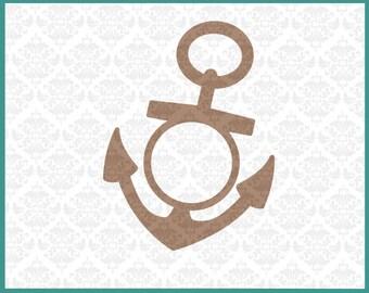 Monogram Anchor Svg, Anchor svg, Nautical svg, Monogram svg, Monogram frame svg, Anchor Monogram svg, Cricut, Silhouette, Cut Files, Svgs