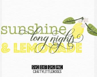 Lemon, Sunshine, Sign, SVG, Dxf, Ai, Eps, Png, Monogram, Lemonade, Graphic, Clipart, Cricut, Silhouette, cutting files, sign designs, Decor
