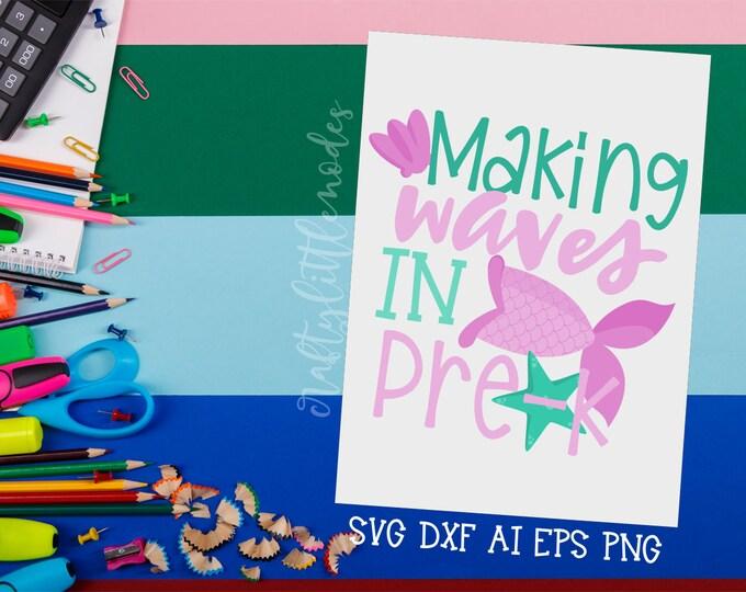 MERMAID Back to School, Bundle, Svg, Preschool, Pre-k, First Day, Mermaid Tail, Shirt Design, Commercial, Cutting File, Cricut, Silhouette