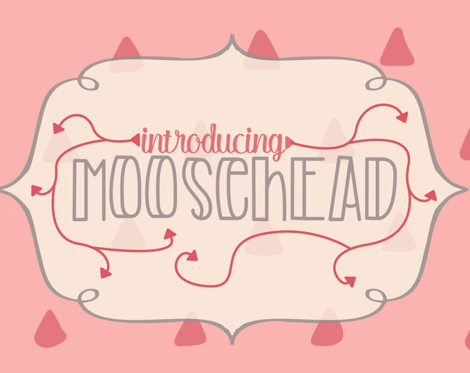 Font, Moosehead Font, Typeface, Otf, Cricut Fonts, Silhouette Fonts, Display Fonts, Hand Lettered Fonts, Commercial Use, Commercial Fonts
