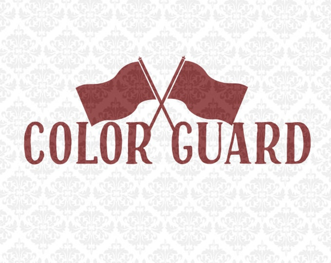 Colorguard Love Flags Monogram Color Guard Marching Band SVG DXF file Eps Png Vector Instant Download Commercial Cricut Silhouette