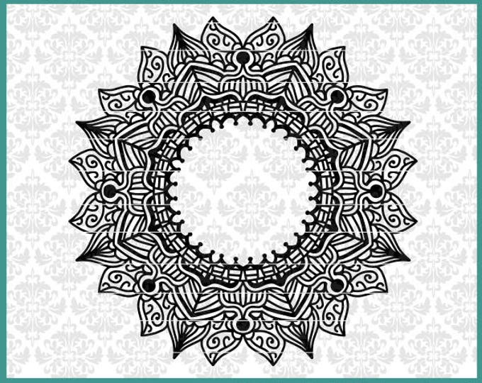 CLN0514 Mandala Intricate Challenging Boho Hard to Weed SVG DXF Ai Eps PNG Vector Instant Download Commercial Cut File Cricut SIlhouette