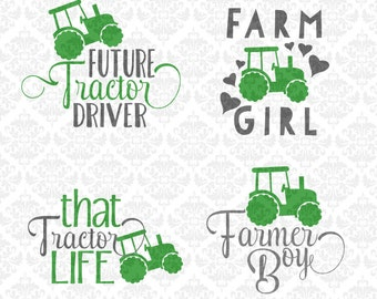 Farm Girl Svg, Tractor Svg, Farm Svg, Farmer Svg, Farmer Boy Svg, Farm Life Svg, That Tractor Life Svg, Boy Svg, Girl Svg, Farmer Cricut,