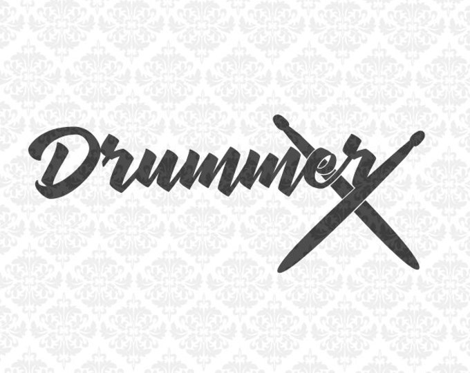 Drummer Percussion Mom Marching Band SVG DXF file ai eps png scalable vector Instant download commercial use cricut silhouette cutting