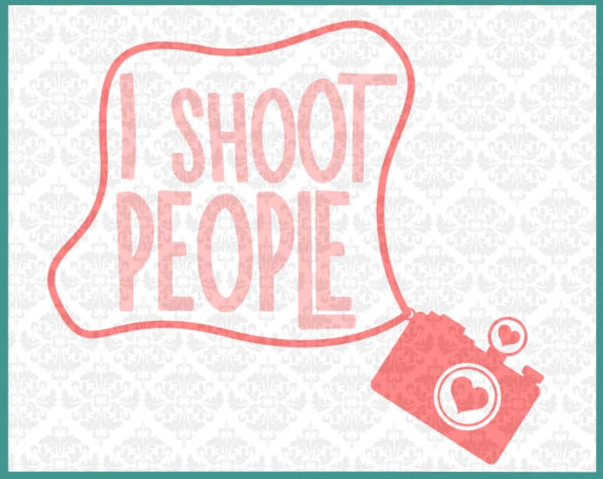 CLN089 I shoot people Camera Heart Chevron Love Outline I shoot people zentangle photographer SVG DXF Ai Eps PNG vector instant download