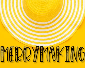 Merrymaking, Font, Hand Lettered, Font Duo, Fonts, Otf, Ttf, Cricut, Silhouette, Styled, Silly, Display, Print, Writing, Lettering, Type