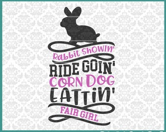 CLN0426 Rabbit Showing Bunny County Fair Show Day Shirt SVG DXF Ai Eps PNG Vector Instant Download Commercial Cut File Cricut Silhouette