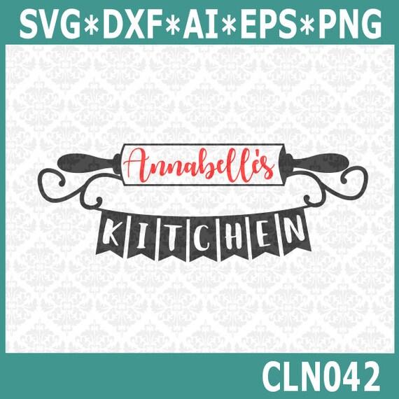 Name Für Küche | Rollen Pin Svg Kuche Monogramm Svg Kuche Name Rahmen Svg Etsy