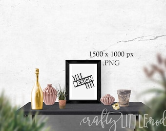 Mockup Mock Up 8 x 10 femine Stylized Photography SVG Blank Printable PNG Garden Boho Desk Wall Chair Wine Blanks Commercial Use Photo