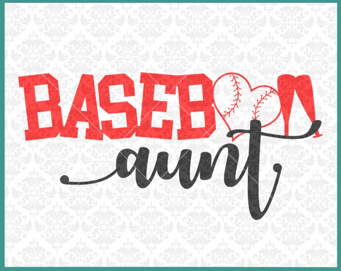CLN0377 Baseball Aunt Uncle Sister Brother Family Shirts SVG DXF Ai Eps PNG Vector Instant Download COmmercial Cut File Cricut SIlhouette