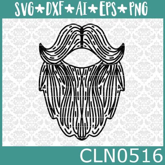 Cln0516 Beard Mustache Father S Day Hair Barber Santa Man Etsy