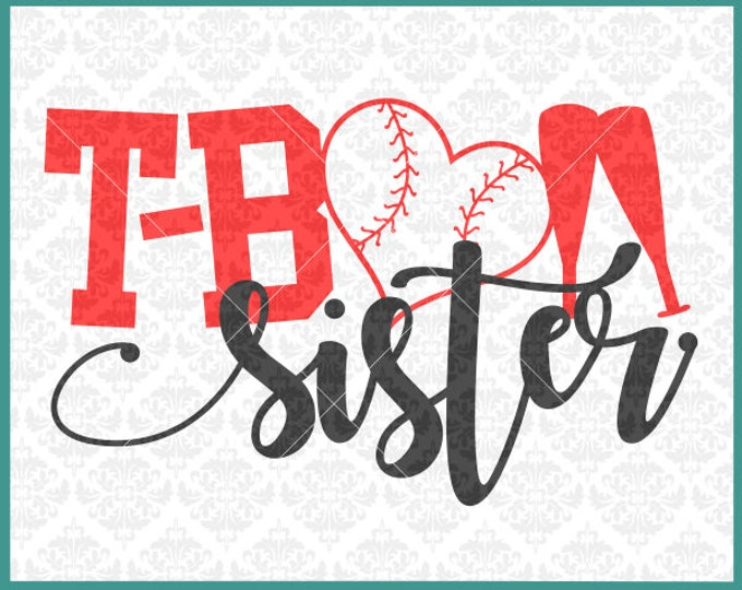 CLN0385 T-ball TeeBall Sister Uncle Aunt Brother Family SVG DXF Ai Eps PNG Vector Instant Download COmmercial Cut File Cricut SIlhouette