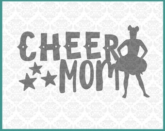 CLN036 Cheer Mom Mother Cheerleader Cheerleading SVG DXF STUDIO Ai Eps Scalable Vector Instant Download Commercial Use Cricut Silhouette