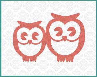 CLN0129 Owl Family Mommy Daddy Baby Single Mother Father Owls SVG DXF Ai Eps PNG Vector Instant Download Commercial Use Cricut Silhouette