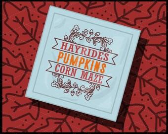 CLN0726 Hayrides Pumpkins Corn Maze Fall Festival Sign SVG DXF Ai Eps PNG Vector Instant DOwnload Commercial Cut FIle Cricut SIlhouette