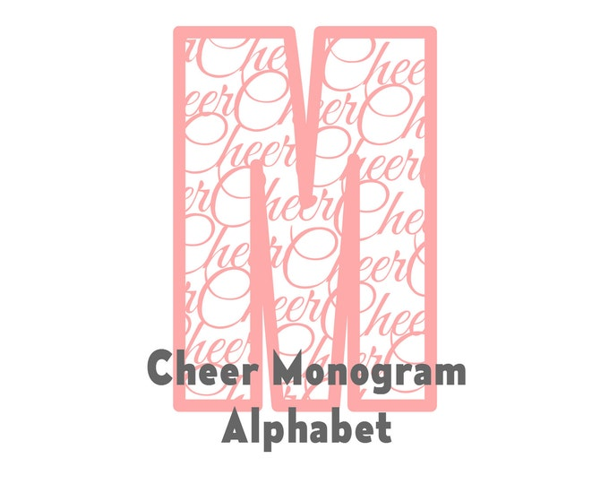 Cheer Monogram Alphabet SVG STUDIO Ai EPS Scalable Vector Instant Download  Cricut Explore Silhouette Cameo Commercial Use