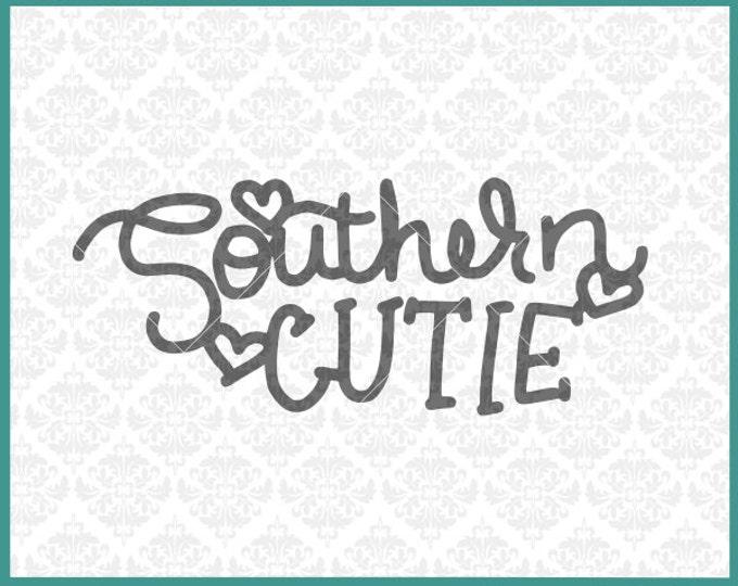 CLN0294 Southern Cutie Hearts Valentine Kid's Infant Shirt SVG DXF Ai Eps PNG Vector INstant Download Commercial Cut File Cricut Silhouette
