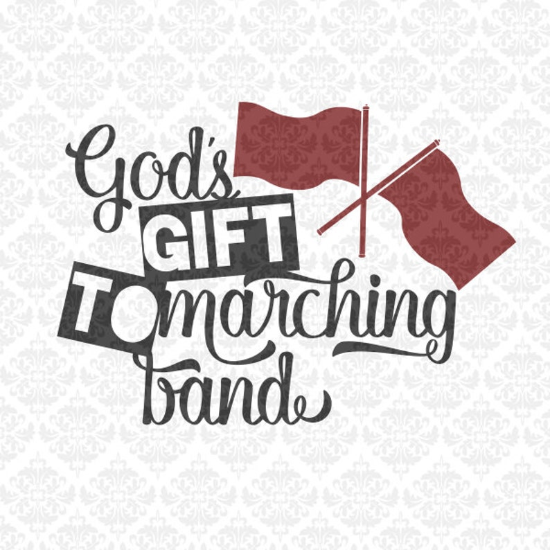 Gods Gift to Marching Band Colorguard Color Guard Marching image 0