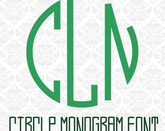Circle Monogram Font, Monogram Font, Monogram Fonts, Cricut Fonts, Cricut Monogram Fonts, Silhouette Fonts, Monogram Svg, Circle Monogram