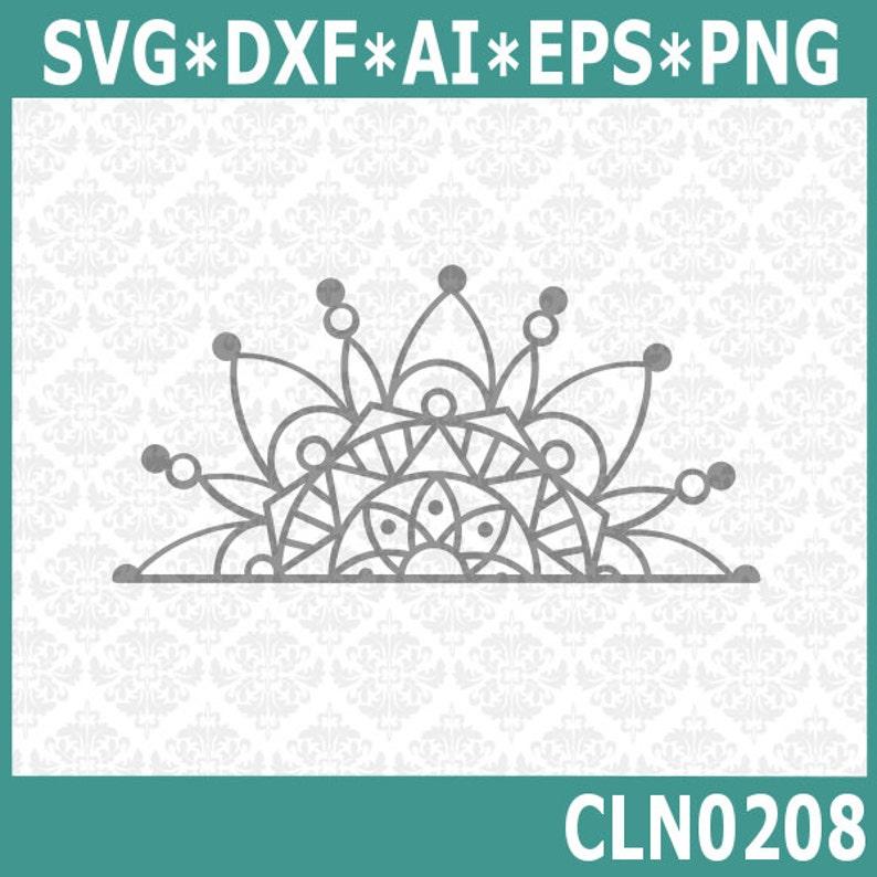 CLN0208 Half Mandala Boho Car Decal Circle Henna Design  SVG image 0