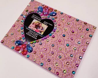 Pink and Multicolor Picture Frame