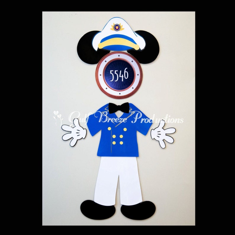 c19f9812e Captain Mickey Mouse Magnet Disney Cruise Door Magnet   Etsy