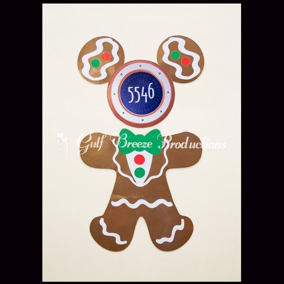 Personalized Mickey Gingerbread Cookie Magnets Merrytime Christmas Cruise Disney Cruise Gingerbread Magnets