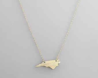 Gold North Carolina Necklace