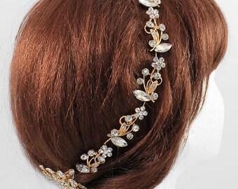 Crystal Floral Vine Hair Wreath