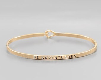 Be Adventurous Gold Bangle