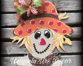 Scarecrow Door Hanger, Fall Door Hanger, Fall Decor, Door Hanger