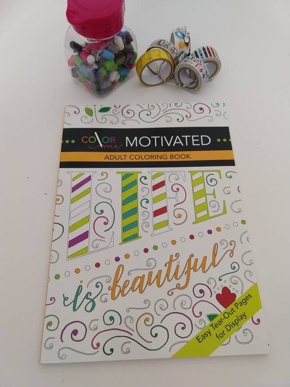 Adult Coloring Books/Adult Coloring Pages/Inspirational Quotes/Motivational Quotes/Lettering/Color Therapy/Art Therapy/Coloring Books/Color