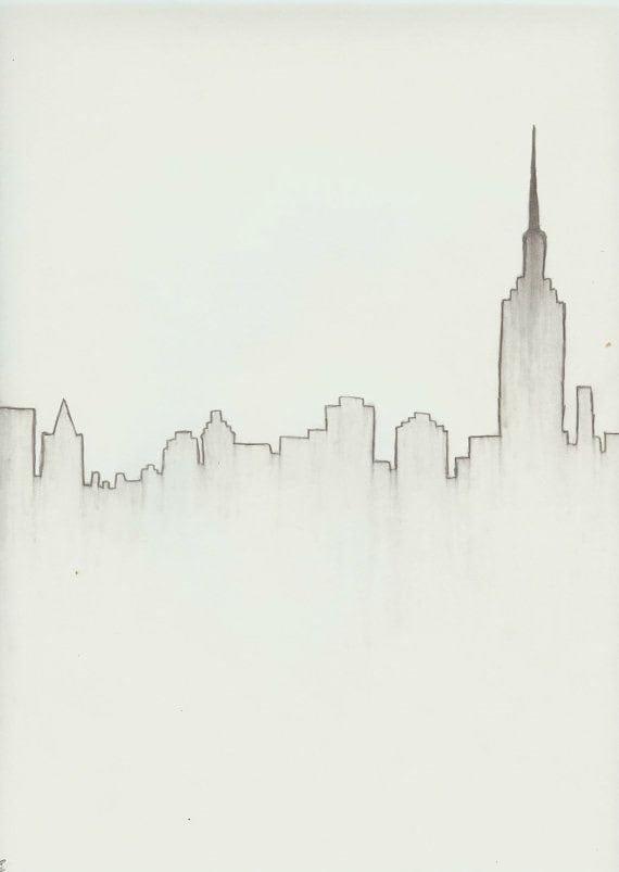 New York City Skyline Download Etsy
