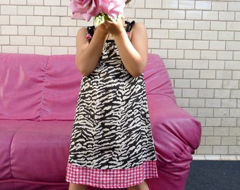 Children's Dresses///Zebra print///Zebra gift///Toddler dress///Kid clothing///Child's clothing///TITLI Zebra//MIMISAN//BiBoOshKa