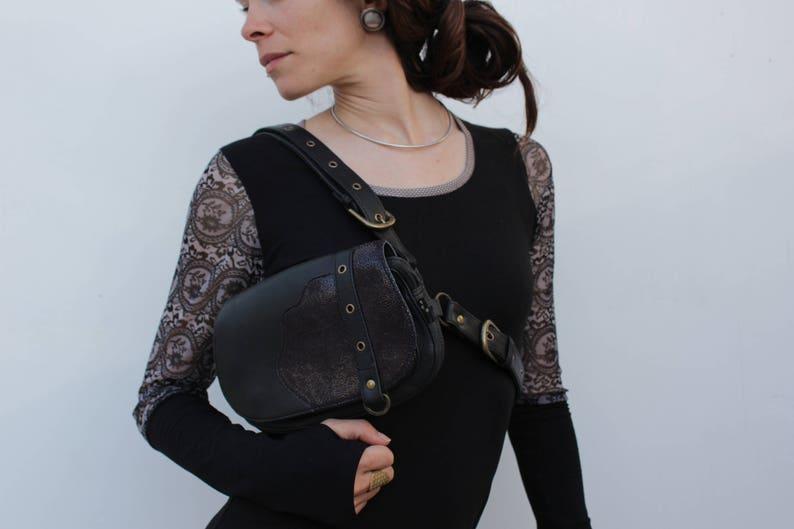 Genuine Leather BagUtility BeltHip BagHip PackFanny PackFanny BagHip BeltFestival accessoriesSEKMETH Deep BrownMIMISAN