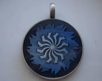 Pewter pendants etsy pewter epoxy pendant blue swirl design 45x35mm destash pendants jewelry making supplies pewter pendant aloadofball Images