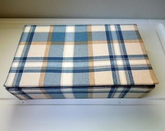 "Gift Storage Box Fabric Covered Custom Made Boudoir Dresser Rectangular Mementos 9"" x 5"" x 2 1/4""  Wedding Anniversary Birthday Bridal"