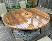 Exterior Korean BBQ table