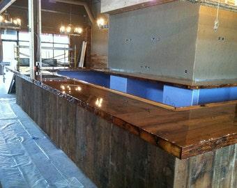 "Barnwood Bar top - 180' x 27"""
