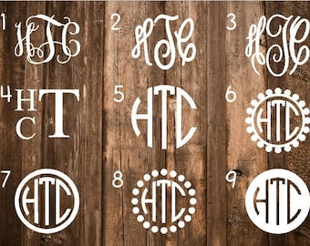 ON SALE Monogram Decal | Monogram Sticker | Monogram Decals | Monogram Laptop Decal | Car Decal | Custom Cup Decal | Monogram Car Decal
