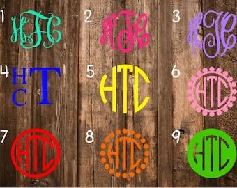Monogram Decal/Monogram Sticker/Monogram Car Decal/Vinyl Decal/Vinyl Monogram/Yeti Decal/Car Decal/Laptop Decal/Yeti Cup Decal/Yeti