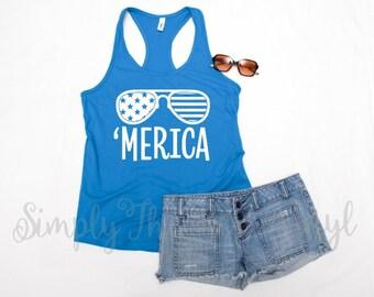 Merica Tank | Merica Tank Top | Merica | Merica Tank Top for Women | 4th of July Tank Top | 4th of July Tanks for Women | 4th of July Tank
