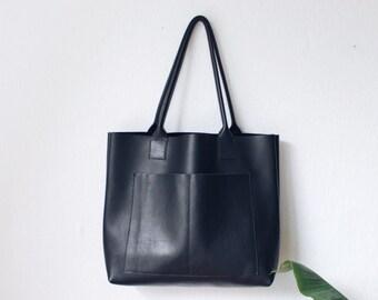 black leather weekender, leather bag, big leather tote bag